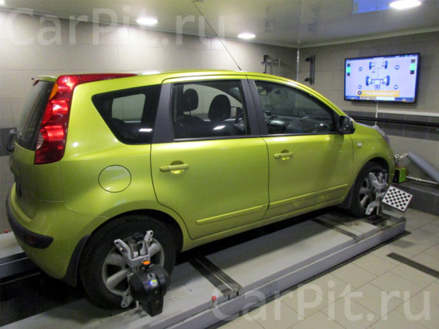 Сход-развал Nissan Note 1.