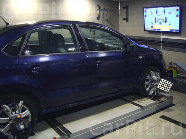 Сход-развал Volkswagen Polo - 1