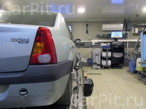 Сход-развал Renault Logan - 2