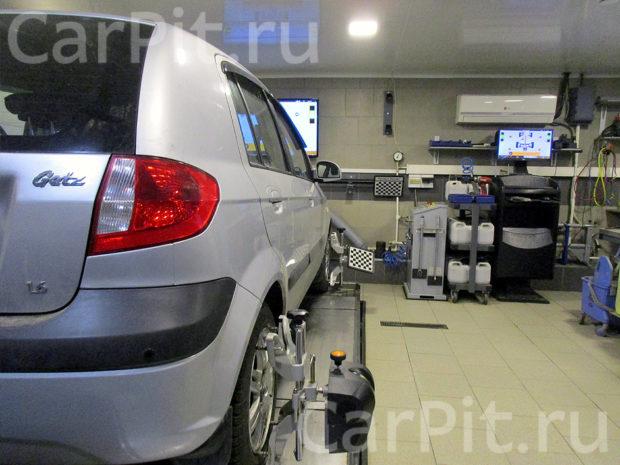 Сход-развал Hyundai Getz - 2