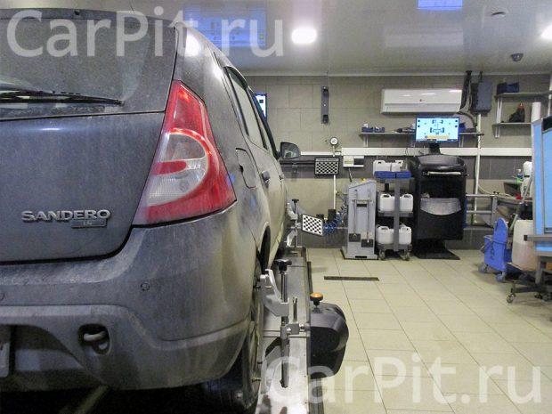 Сход-развал Renault Sandero - 2